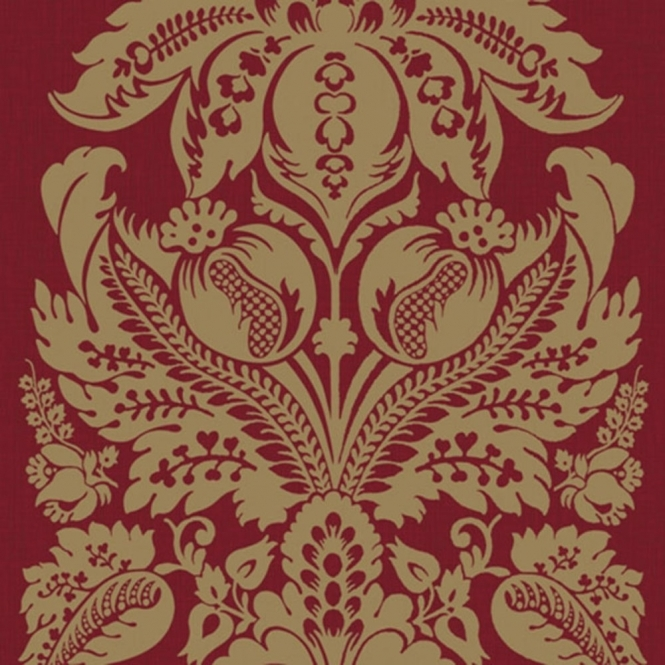 Arthouse Vintage Teramo Damask Wallpaper Regal Red (952104)