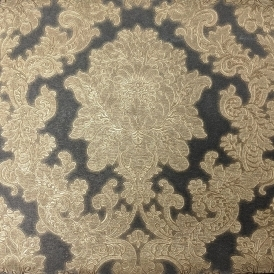 Vintage Vicenza Damask Wallpaper Black (270405)