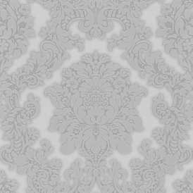 Vintage Vicenza Damask Wallpaper Grey