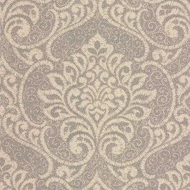 Vision Lupus Damask Wallpaper Sand Gold