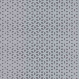 Vision Lupus Geo Wallpaper Silver / Grey (DL22847)