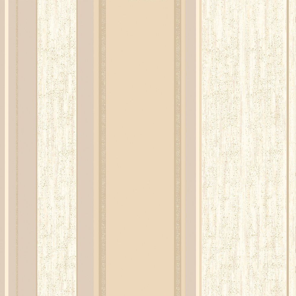 Vymura Synergy Striped Wallpaper Soft Gold Cream Beige