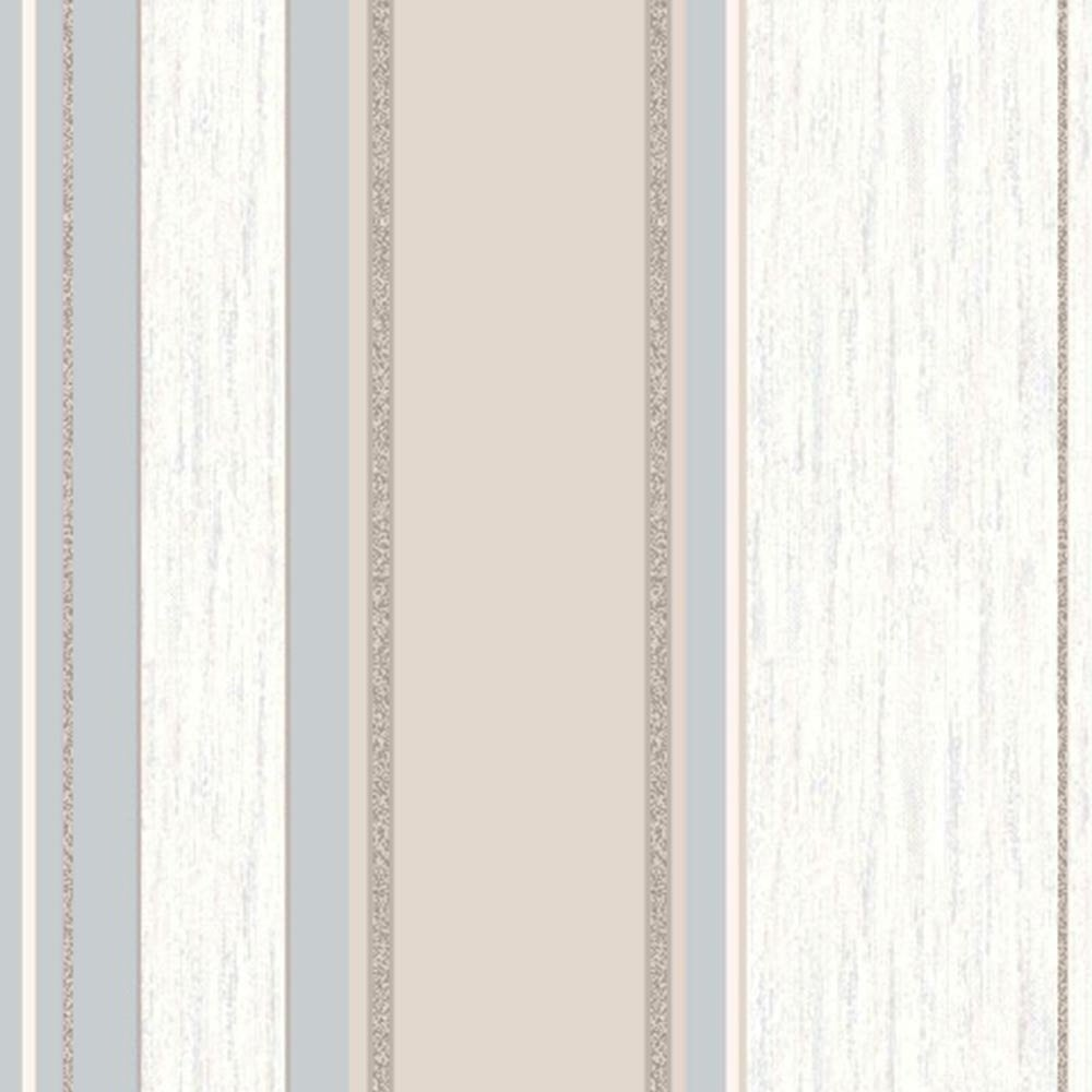 Vymura Synergy Striped Wallpaper Taupe Cream Silver