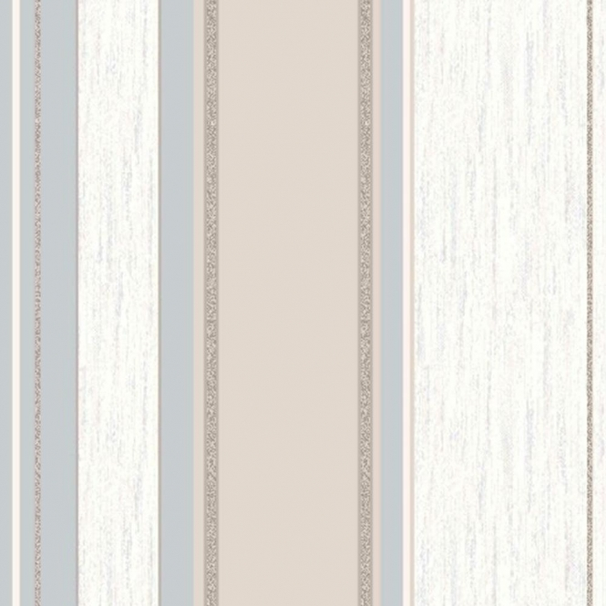 Vymura Synergy Striped Wallpaper Taupe / Cream / Silver (M0784)