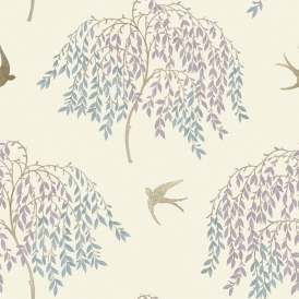 Willow Song Tree Wallpaper Duck Egg Heather