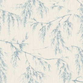 Willow Tree Wallpaper Cream Teal