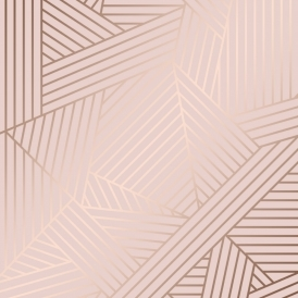 Wingate Geometric Wallpaper Pink Rose Gold