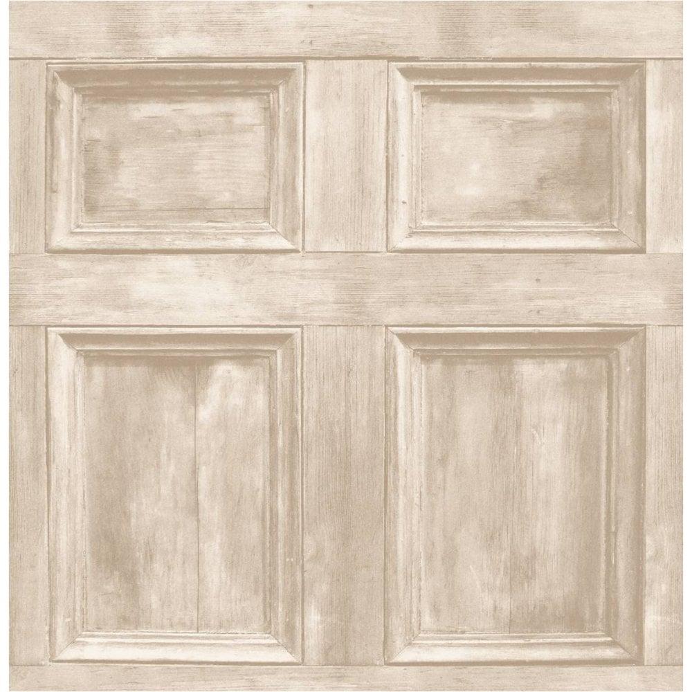 Wood Panel Wallpaper Cream Light Beige