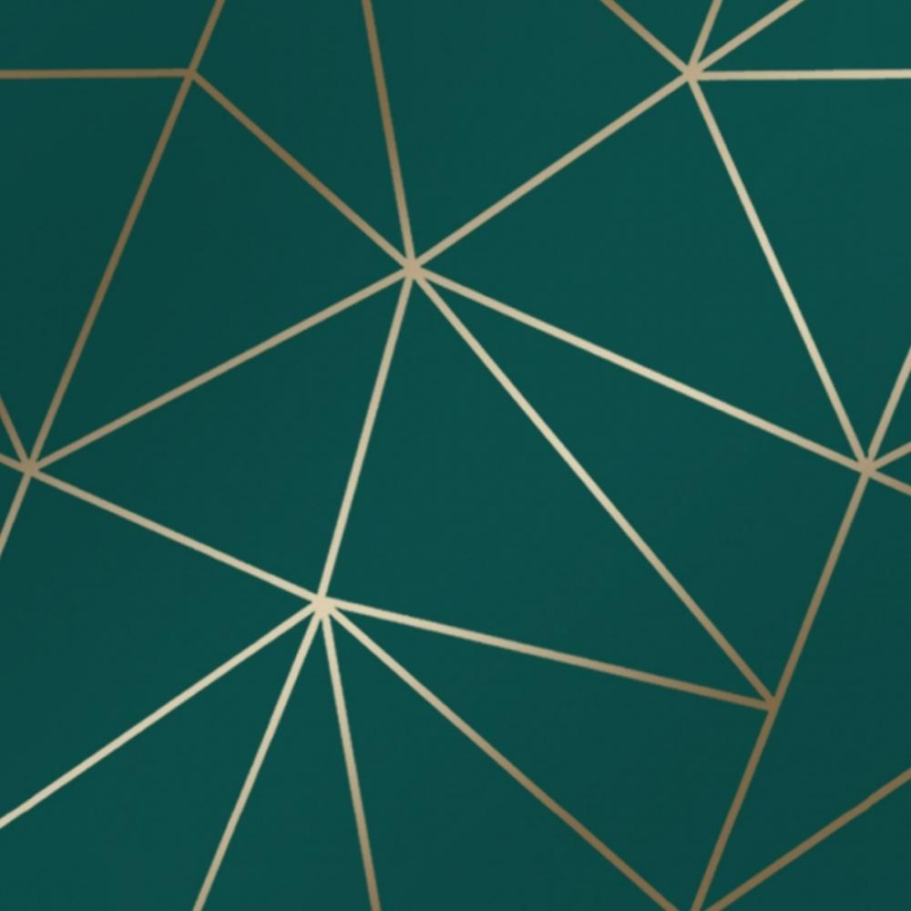 Zara Shimmer Metallic Geometric Wallpaper Emerald Gold