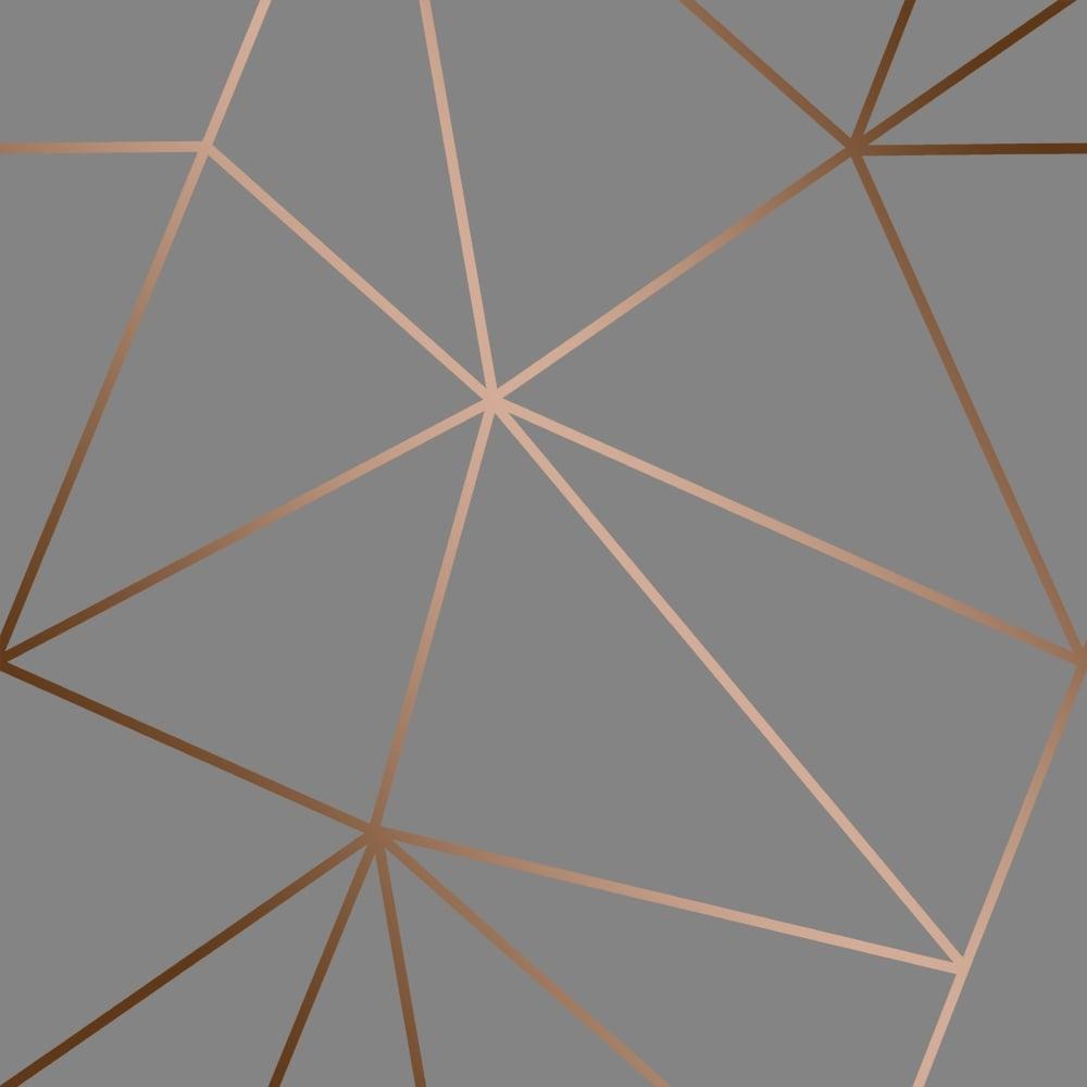 16 Rose Gold And Copper Details For Stylish Interior Decor: I Love Wallpaper Zara Shimmer Metallic Wallpaper Charcoal