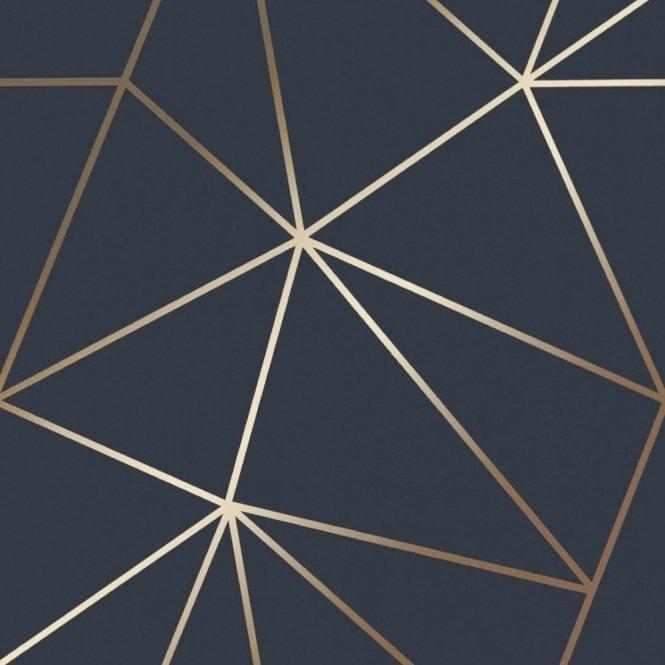 Zara Shimmer Metallic Wallpaper Navy Gold Wallpaper From
