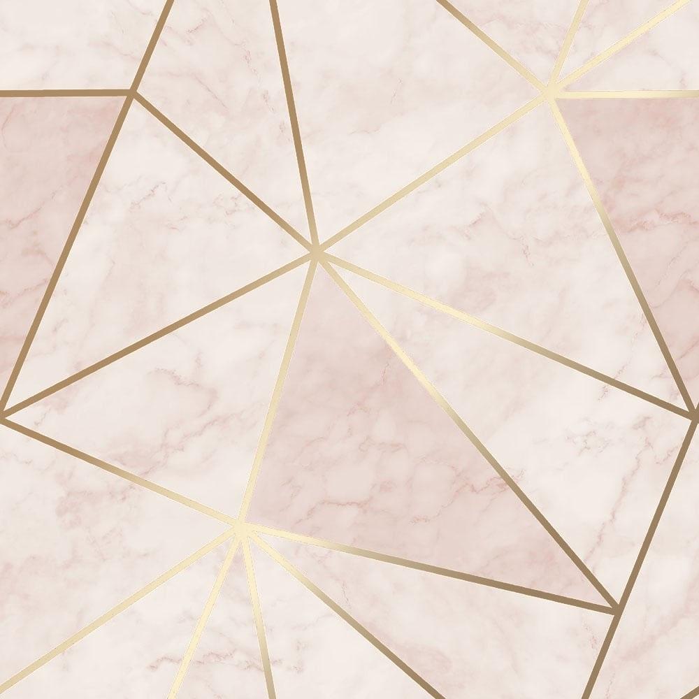 Zara Shimmer Metallic Wallpaper Soft Pink, Gold ...